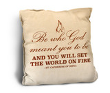 Be Who God Meant Rustic Pillow