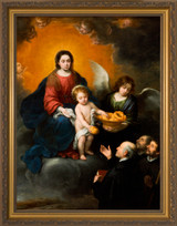 The Infant Christ Distributing Bread to Pilgrims by Murillo - Gold Framed Art