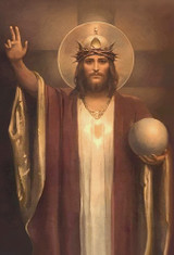 Christ the King by Chambers Restored Indoor Outdoor Aluminum Print
