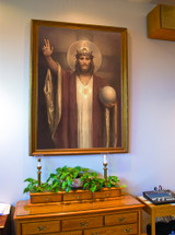 Christ the King by Chambers Restored Church-Sized Framed Canvas