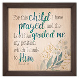 """For This Child"" Rustic Framed Quote"