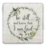 """Be Still and Know"" Tumbled Stone Coaster"