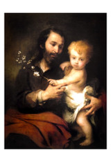 St. Joseph and the Christ Child by Murillo Print