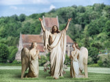 Resurrection with Angels Outdoor Lifesize Display