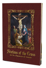 The Stations of the Cross of St. Francis of Assisi Book (Large-Print)