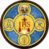 Holy Name Emblem Outdoor Plastic Wood Plaque