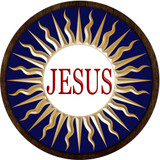 Jesus Emblem Outdoor Plastic Wood Plaque