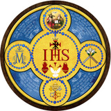 Latin Holy Name Emblem Outdoor Plastic Wood Plaque
