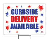 Curbside Delivery Available Yard Sign