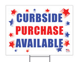 Curbside Purchase Available Yard Sign