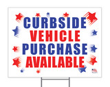 Curbside Vehicle Purchase Available Yard Sign