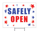 Safely Open Yard Sign
