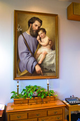 St. Joseph and the Infant Jesus by Ricardo Balaca Church Sized Framed Canvas