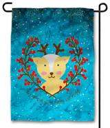 Cute Reindeer Outdoor Garden Flag