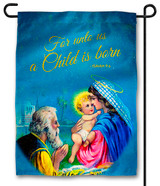 Vintage Holy Family Outdoor Garden Flag