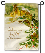 Vintage Joy of the Season Outdoor Garden Flag