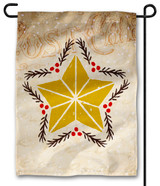 Vintage Star Outdoor Garden Flag