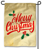 Holly Merry Christmas Outdoor Garden Flag