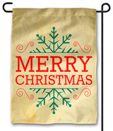Snowflake Merry Christmas Outdoor Garden Flag