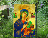 Our Lady of Perpetual Help Outdoor Garden Flag
