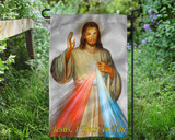 Divine Mercy Outdoor Garden Flag
