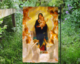 Our Lady of the Angels Outdoor Garden Flag