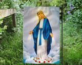 Our Lady of Grace Outdoor Garden Flag