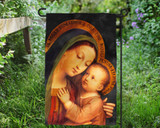 Our Lady of Good Counsel by Enric M. Vidal Outdoor Garden Flag