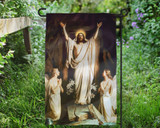 Resurrection by Carl Bloch Outdoor Garden Flag
