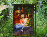 Holy Family with Grandparents Outdoor Garden Flag