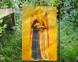 Fra Angelico Angel with Harp Outdoor Garden Flag