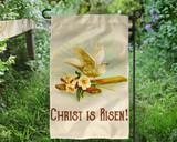 Christ is Risen Outdoor Garden Flag