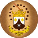 Ancient Carmelite Crest Emblem Decal