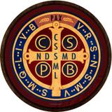 Benedictine Medal Emblem Outdoor Poly Wood Plaque