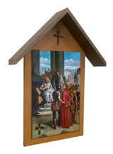 Bertucci Stations of the Cross Simple Poly Wood Outdoor Shrine (Set of 14)