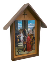 Bertucci Stations of the Cross Deluxe Poly Wood Outdoor Shrine (Set of 14)