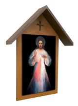 Vilnius Divine Mercy Simple Poly Wood Outdoor Shrine