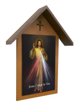 Divine Mercy Simple Poly Wood Outdoor Shrine