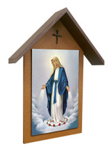 Our Lady of Grace Simple Poly Wood Outdoor Shrine