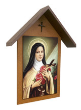 St. Therese Simple Poly Wood Outdoor Shrine