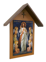 King of Divine Mercy Simple Poly Wood Outdoor Shrine