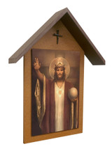 Christ the King by Chambers Simple Poly Wood Outdoor Shrine