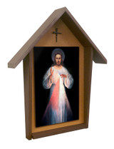 Vilnius Divine Mercy Deluxe Poly Wood Outdoor Shrine