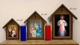 Divine Mercy Deluxe Poly Wood Outdoor Shrine