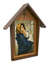 Madonna of the Streets Deluxe Poly Wood Outdoor Shrine