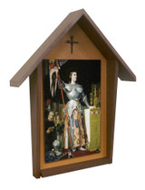 St. Joan of Arc Deluxe Poly Wood Outdoor Shrine