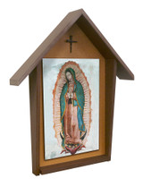 Our Lady of Guadalupe Deluxe Poly Wood Outdoor Shrine