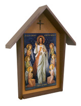 King of Divine Mercy Deluxe Poly Wood Outdoor Shrine