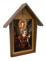 Resurrection by Coypel Deluxe Poly Wood Outdoor Shrine