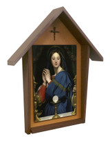 Madonna of the Host Deluxe Poly Wood Outdoor Shrine